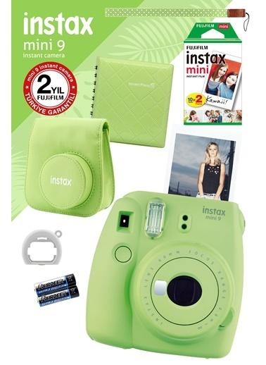 Fujifilm Instax Mini 9 Yeşil Fotoğraf Makinesi ve Hediye Seti Yeşil